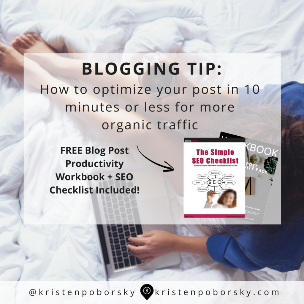 Optimize Your Blog Post in 10 Minutes or Less